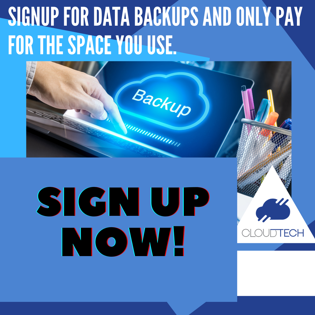 Sign up now and only pay for what you backup!